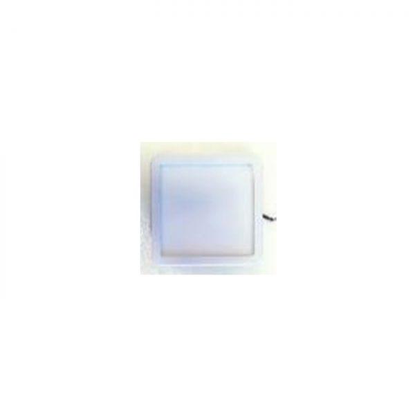 Square aluminum LED lamp with adjustable attachment