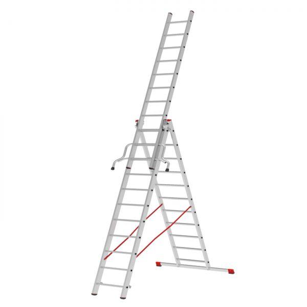 Three-section aluminum ladder VIRA 4230
