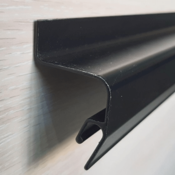 Aluminum profile soaring ceiling black (without insert) 2m