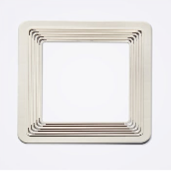 Universal's square supports white 90/140mm (1 pack – 30 un.)