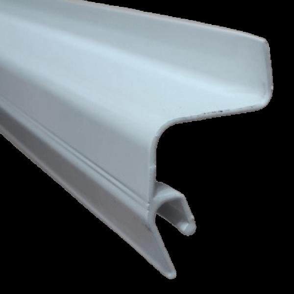 Aluminium profile soaring ceiling white (without insert)  2 m