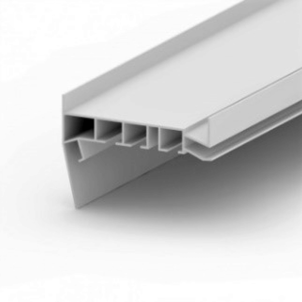 Aluminum profile gardina white 3,2m