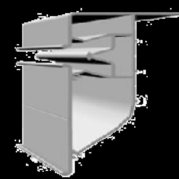 Aluminum profile PP65 2,5m