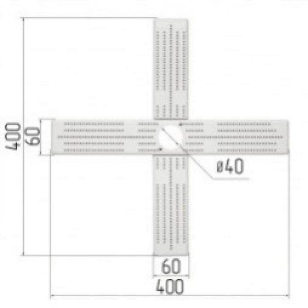 Cross for chandelier 400x400x13 (100 pieces)